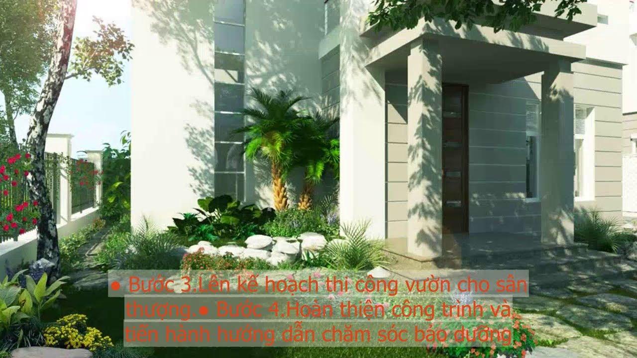 Ý Tưởng Thiết Kế Sân Vườn Trên Sân Thượng Đẹp Cho Nhà Phố - Thiết kế sân vườn - Cùng Làm Vườn