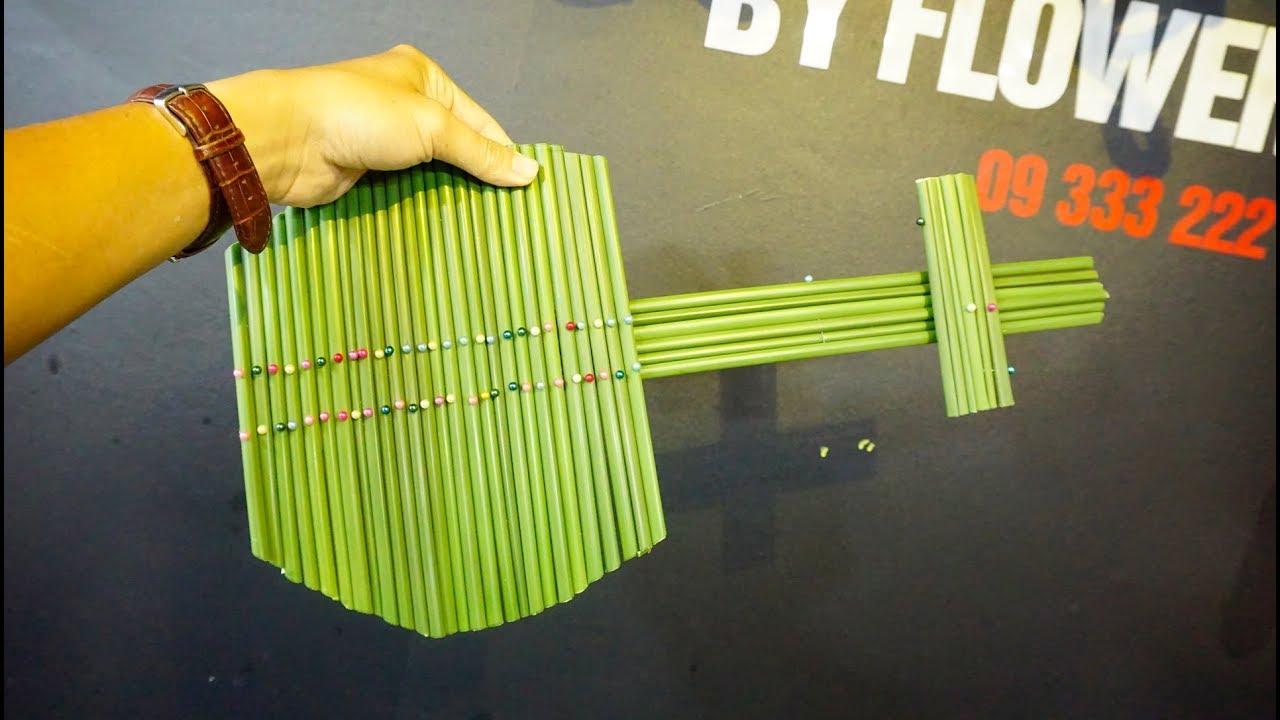 Ý tưởng làm cây đàn bằng thân cây Thủy Trúc