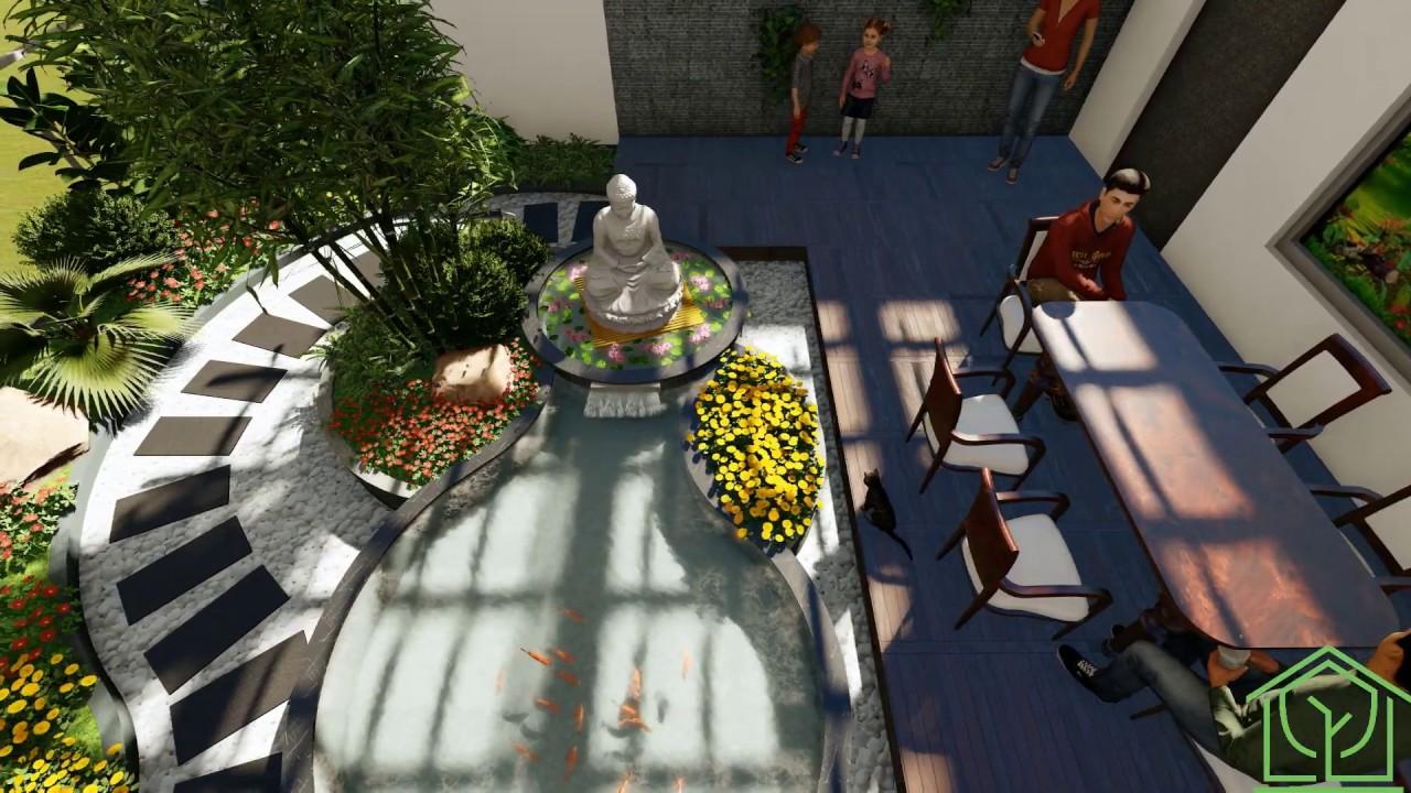 Ý tưởng độc đáo sân vườn trên sân thượng theo phong cách đạo Phật - Cayplus
