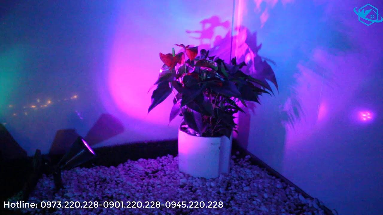 [Đèn NLMT] Đèn soi tiểu cảnh sân vườn HT1218