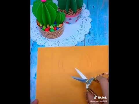 Đồ chơi bằng giấy / gấp cây xương rồng bằng giấy