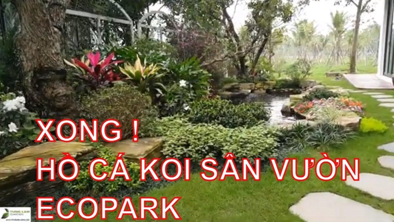 Hoàn thiện trang trí sân vườn & hồ cá Koi Park River Ecopark ngày 8/3/2019