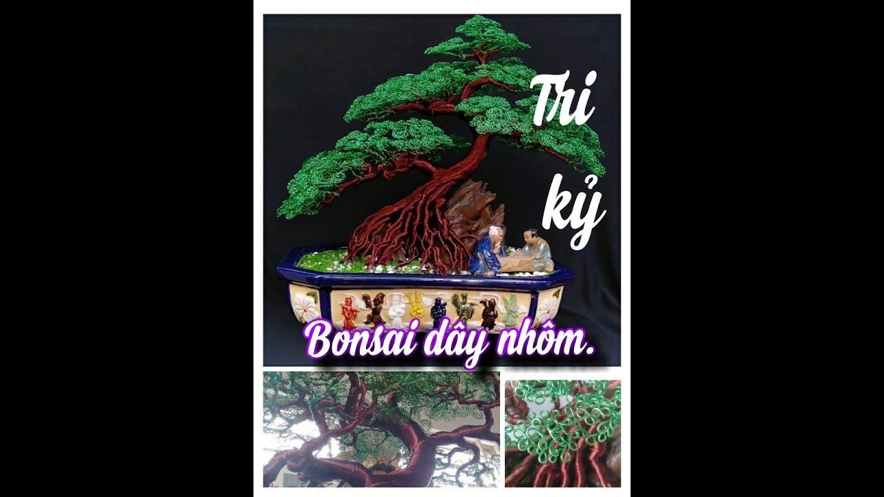 Bonsai handmade đẹp  dây đồng (nhôm). loại to cây luôn chậu trên 20kg +