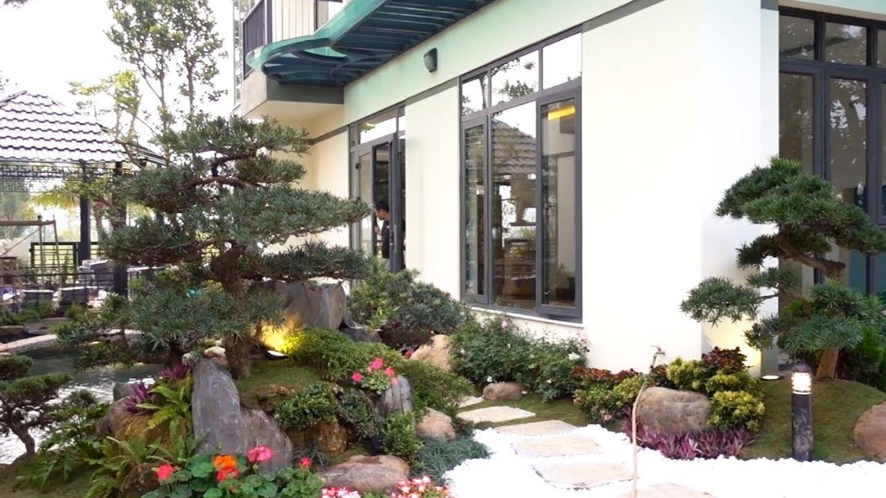 Các đại gia trang trí sân vườn đón tết ntn - beautiful small scene of the rich person