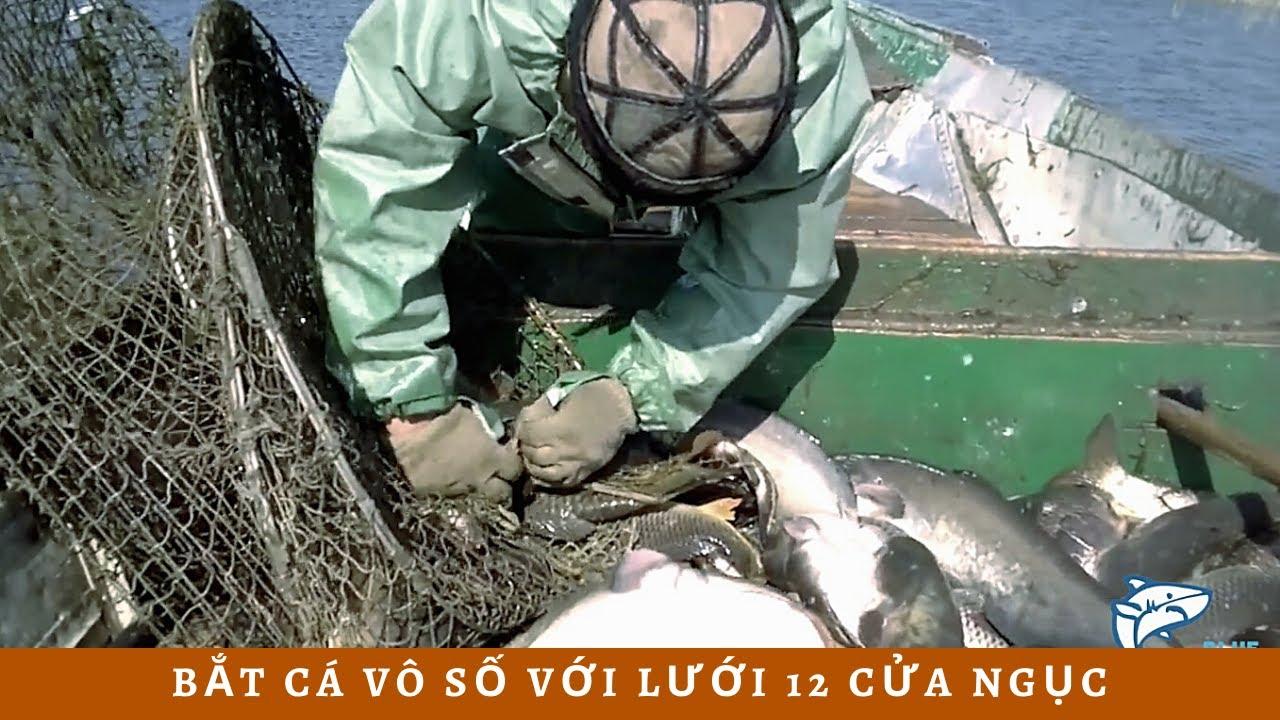 Cách bắt cá không tưởng với lưới 12 cửa ngục trong dân gian