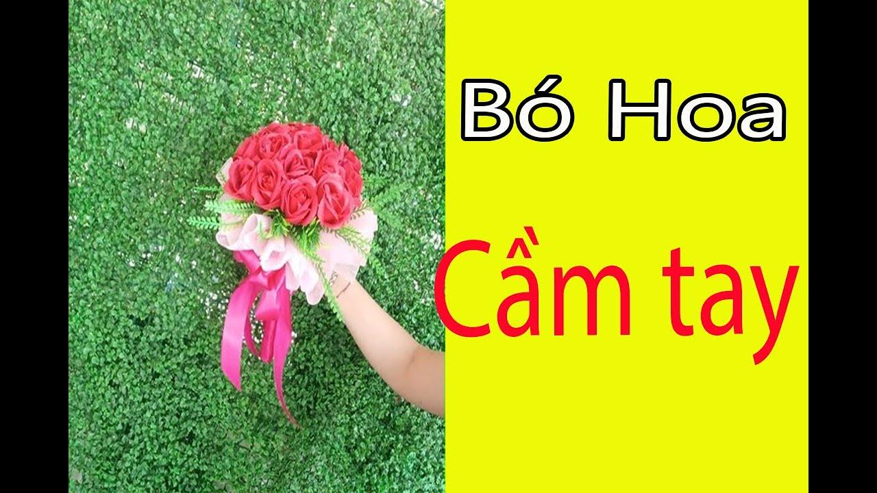 Cách làm bó hoa cầm tay đơn giản | Bó hoa cầm tay cô dâu | Thanh Vân Flower