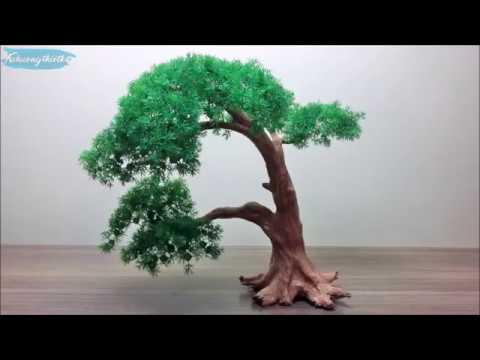 Cách làm cây bonsai giả bằng dây đồng (hoặc kẽm) và hạt cườm đơn giản| Cách làm Bonsai mini