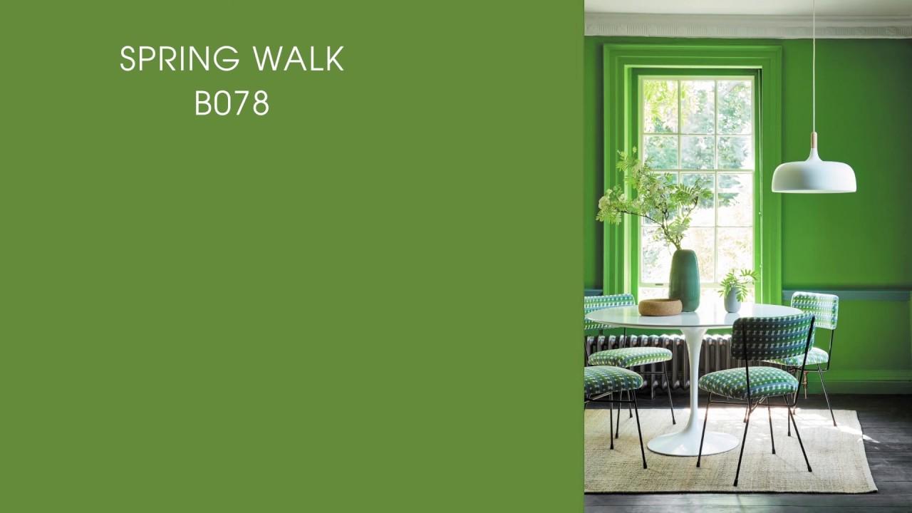 Cách phối màu sơn tường với tông màu xanh lá