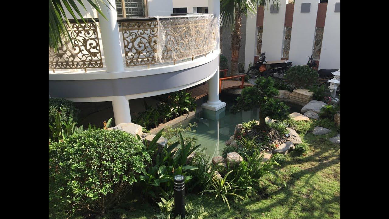 Cận cảnh Hồ cá KOI trong sân vườn biệt thự Quận 12