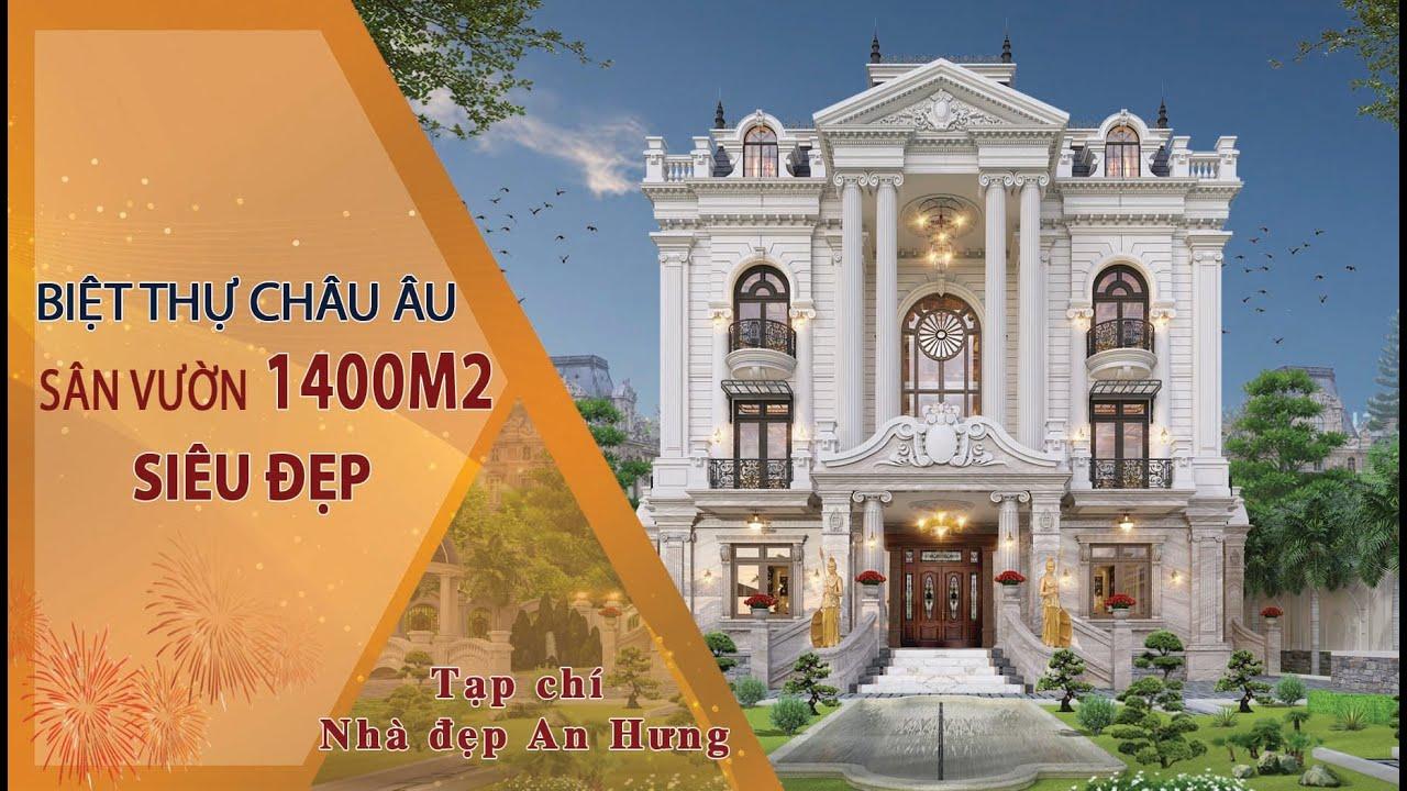 Chiêm ngưỡng biệt thự châu Âu nguy nga cùng sân vườn 1400m2 tuyệt đẹp tại Nghệ An