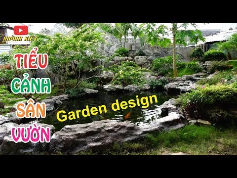 Garden design ideas koi fish aquarium, sân vườn tiểu cảnh hồ cá koi đẹp