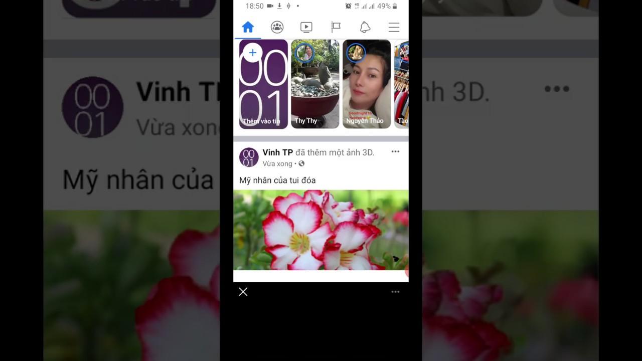 Hướng dẫn cách tạo ảnh 3D đăng facebook