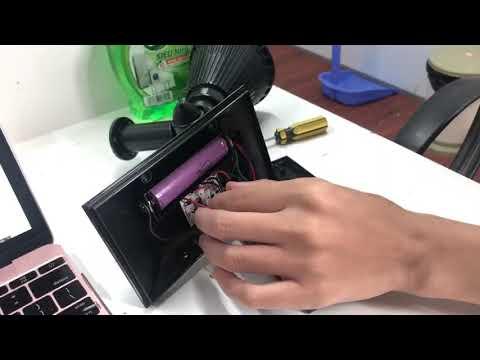 Hướng dẫn cách thay pin tích điện của đèn soi tiểu cảnh NLMT HT1218