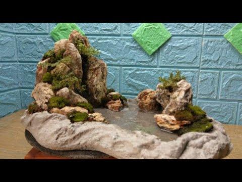 Hướng dẫn làm tiểu cảnh mini chỉ phí thấp   mê bonsai