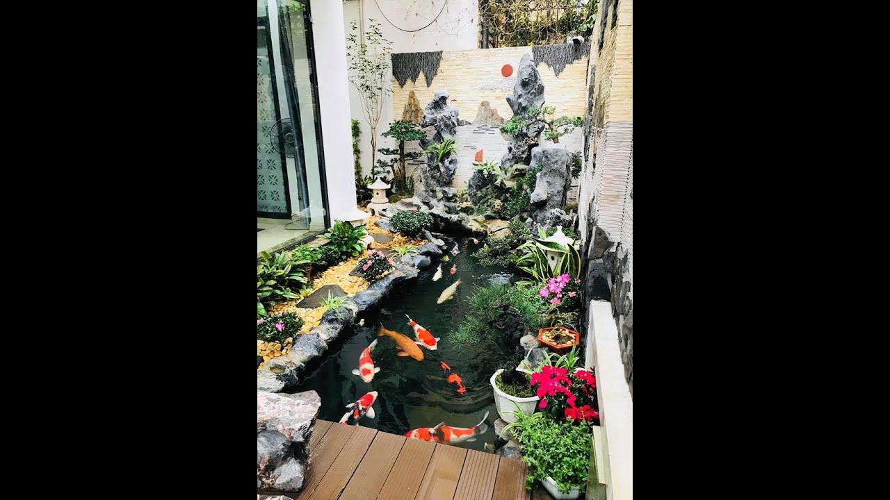 Hồ cá koi đẹp - Hồ koi cảnh quan sân vườn đẹp tựa như tranh #1