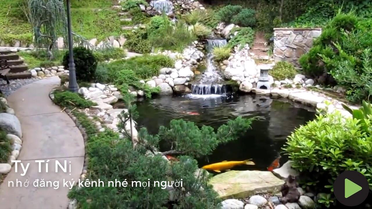 Hồ cá koi đẹp nhất thế giới và tiểu cảnh sân vườn 2020