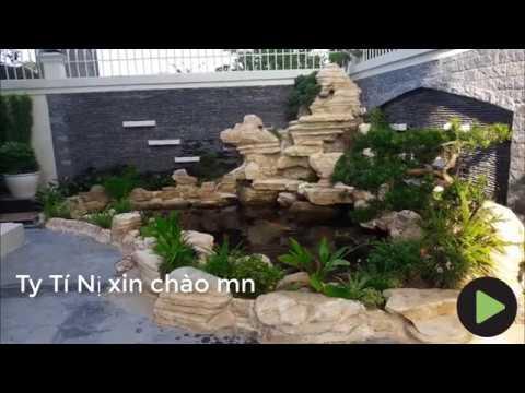 Hồ cá koi đẹp tiểu cảnh sân vườn đẹp Ty Tí Nị