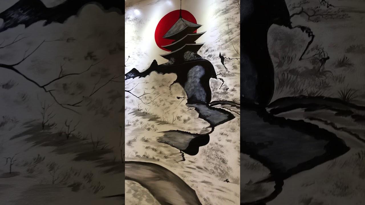 Hoàn thiện tiểu cảnh , tranh tường 3D tại biệt thự liền kề ngoại giao đoàn, xuân tảo, từ liêm Hà nội