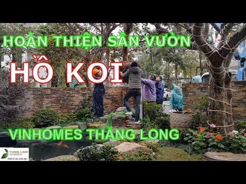 Hoàn thiện trang trí sân vườn & hồ cá Koi nhà chị Linh, biệt thự Vinhomes Thăng Long