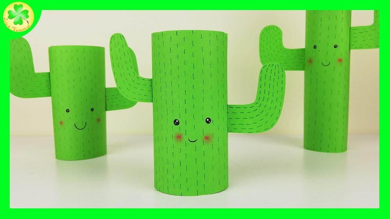 Kaktus z rolki po papierze toaletowym   DIY Tutorial