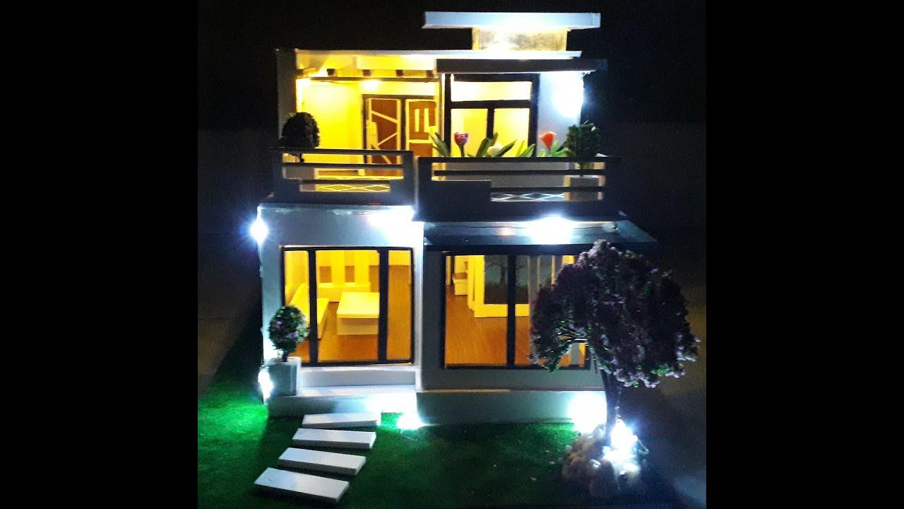 Làm nhà mô hình bằng bìa fomex | Making a model house with fomex covers