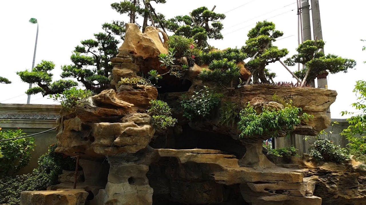 Mẫu Sân Vườn Hòn Non Bộ Đẹp Đẳng Cấp Dành Cho Biệt Thự - Lâu Đài
