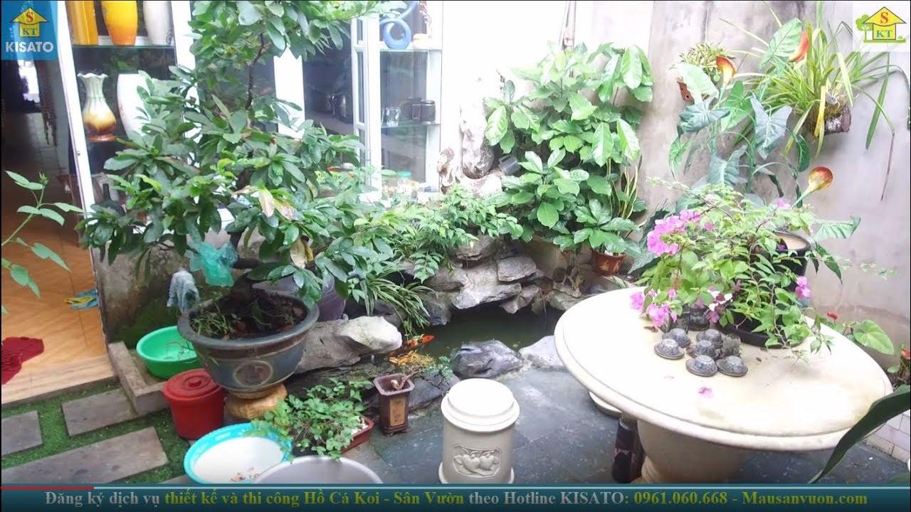 Mẫu Sân Vườn, Hồ Cá Koi Đẹp Cho Mẫu Nhà Có Diện Tích Thu Hẹp