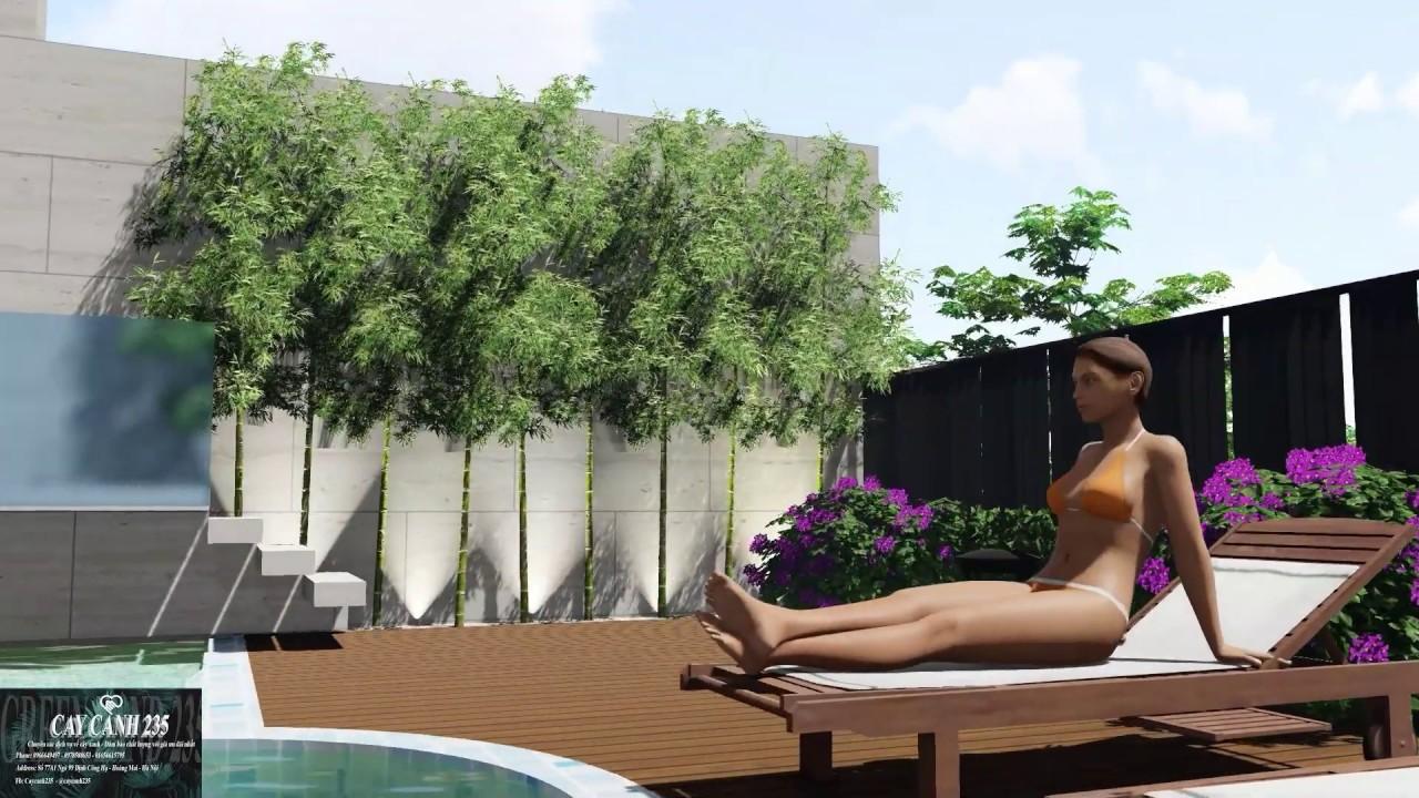 Mẫu thiết kế tiểu cảnh sân vườn đẹp cho biệt thự villa sang trọng - 0978588653