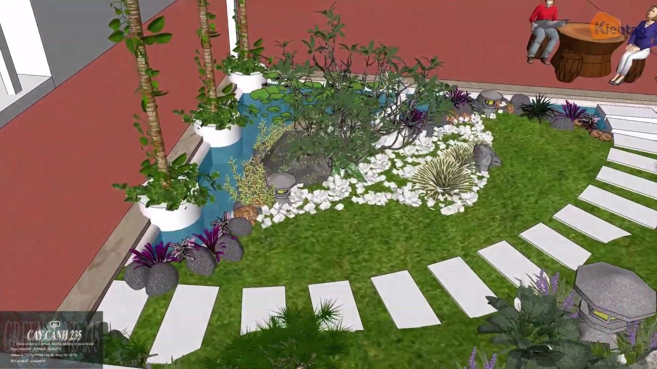 Mẫu tiểu cảnh sân vườn 6x6m - 0978588653