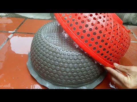 Make a Beautiful Cement Pot at Home  làm chậu xi măng đẹp tại  nhà