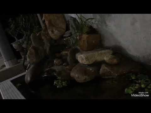 Non bộ tiểu cảnh sân vườn đẹp/cách ghép non bộ mini có thác nước