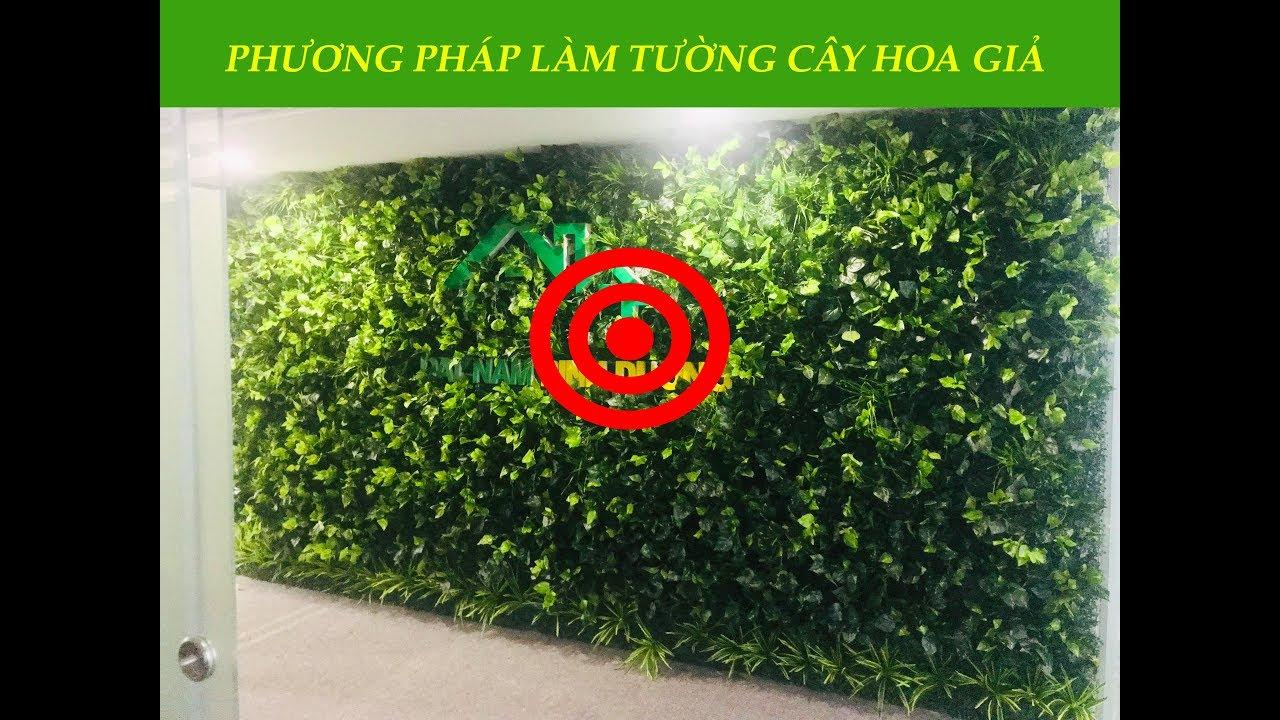 Phương pháp làm tường cây giả nhanh và đơn giản | NIS LANDSCAPE