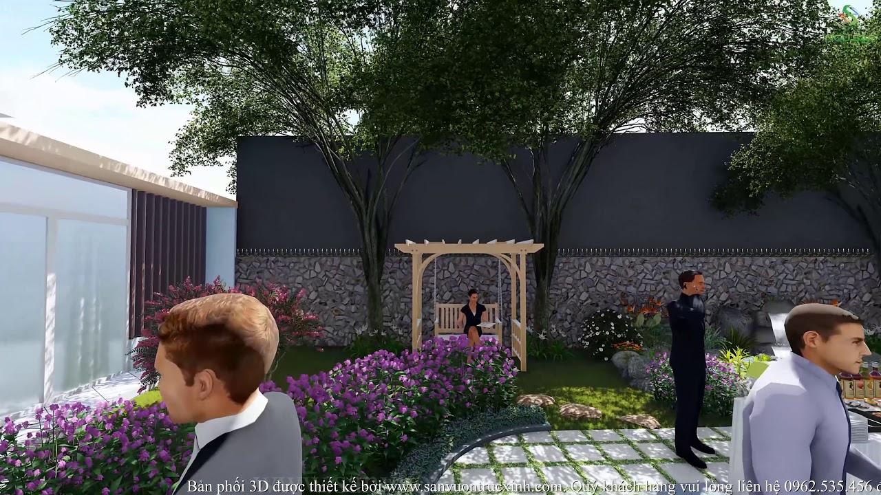 Phối Cảnh 3D Sân Vườn Biệt Thự Anh Hiệp Trà Vinh 2019