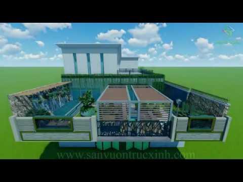 Phối Cảnh 3D Sân Vườn Sân Thượng Biệt Thự Tại Eakar ĐakLak