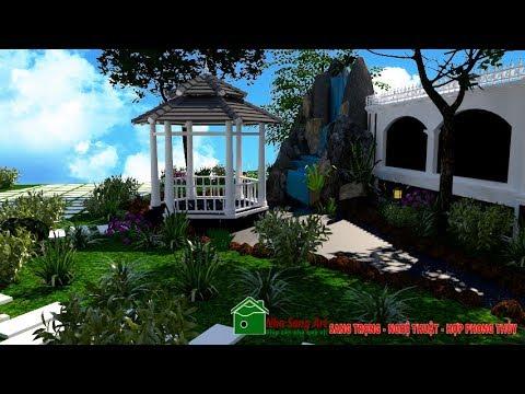 Sân vườn đẹp hợp phong thủy được thi công như thế nào - Thiết kế sân vườn - hồ cá koi đẹp
