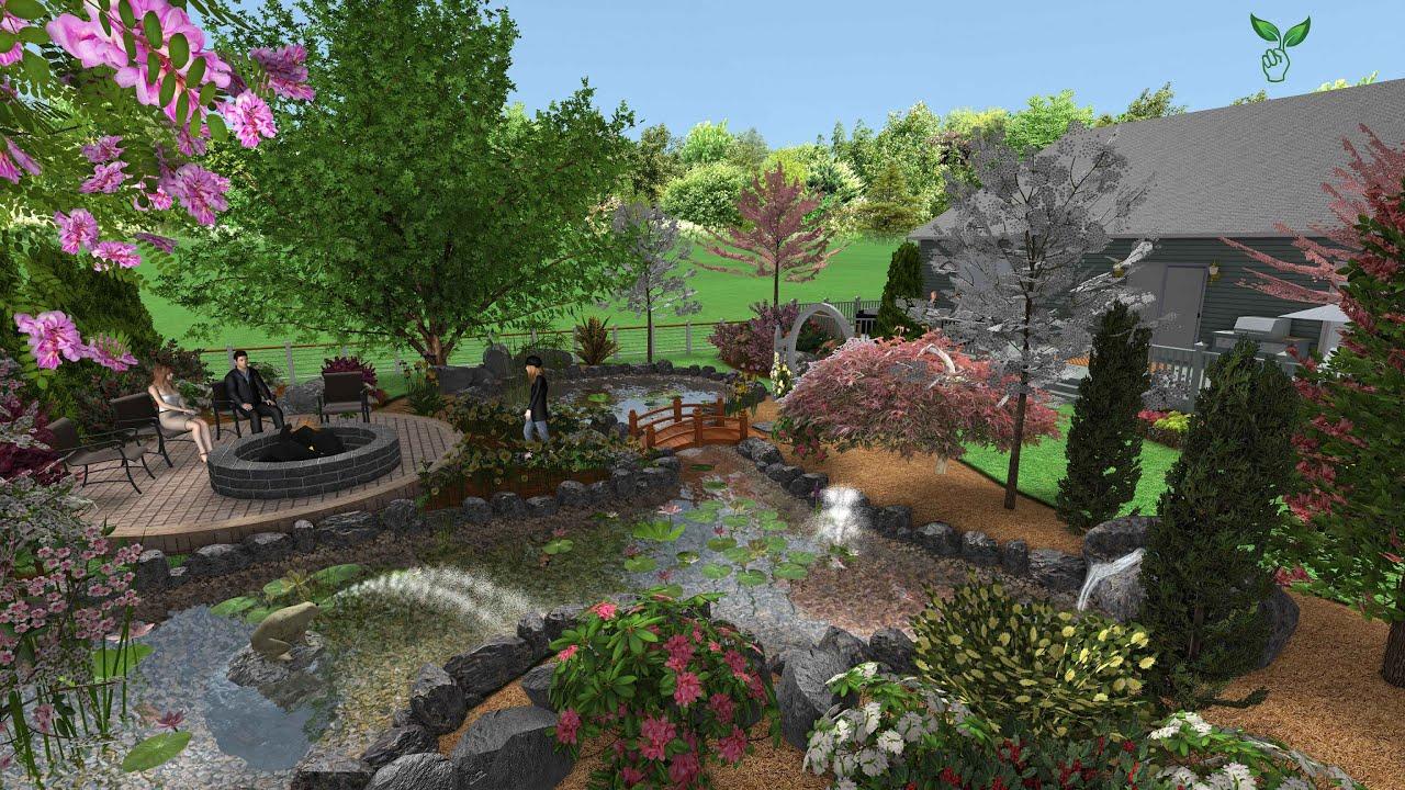Sân vườn biệt thự - Mẫu thiết kế sân vườn biệt thự theo phong cách châu âu.