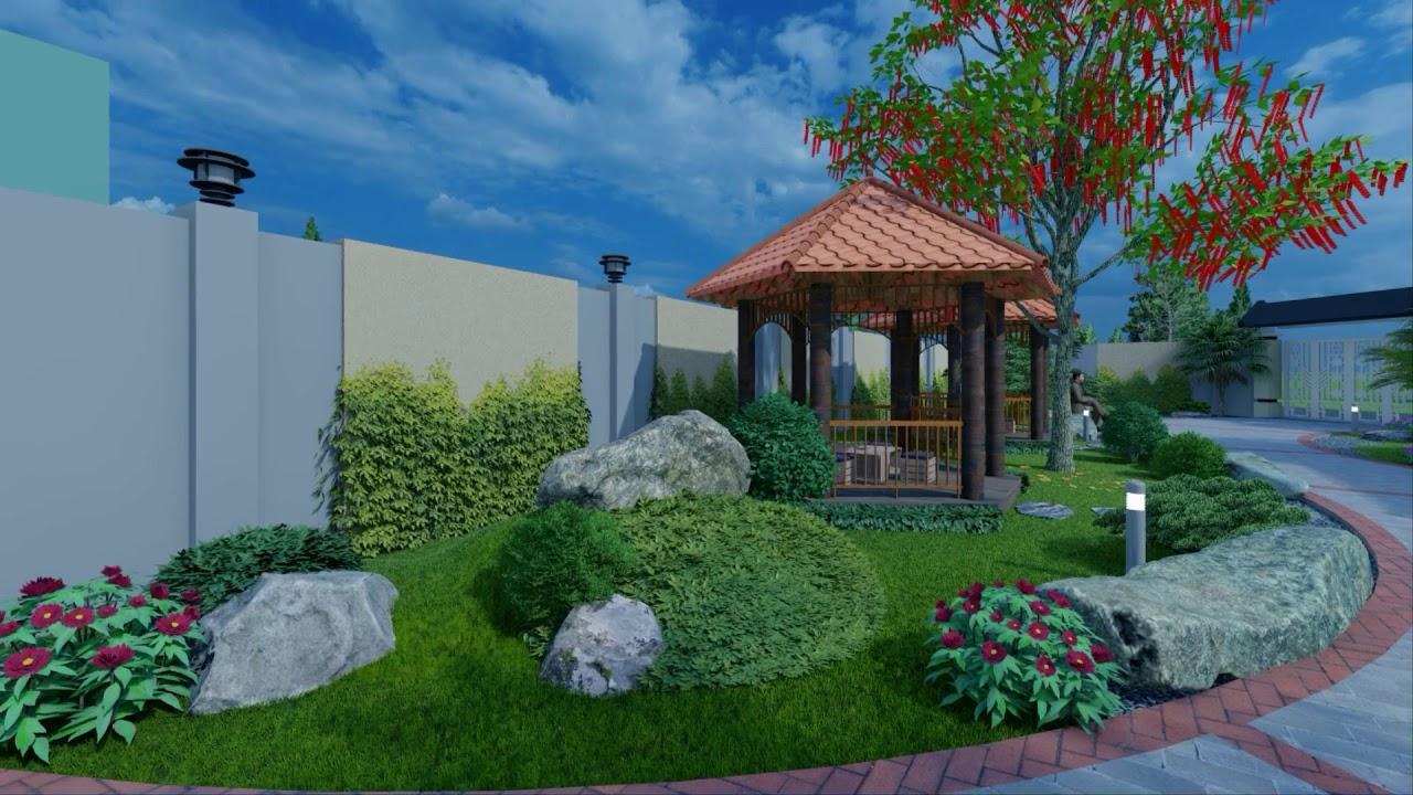 Sân vườn nhà chị Bình