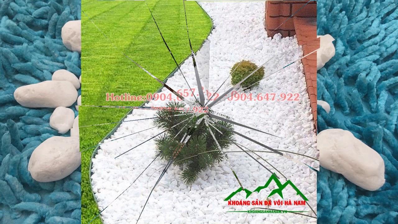 Sỏi trắng trang trí sân vườn- Công ty TNHH Khoáng Sản Đá Vôi Hà Nam
