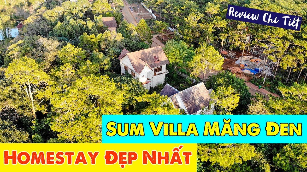 Sum Villa   Review Homestay Đẹp Nhất Măng Đen   Sân vườn rộng   Nội thất siêu XỊN