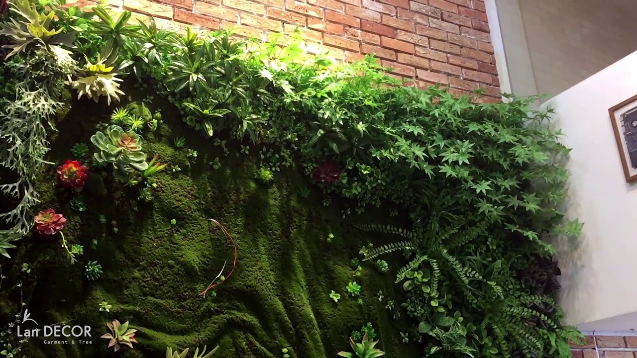 Tường cây sen đá | Tường cây giả| Landecor| 0974781440