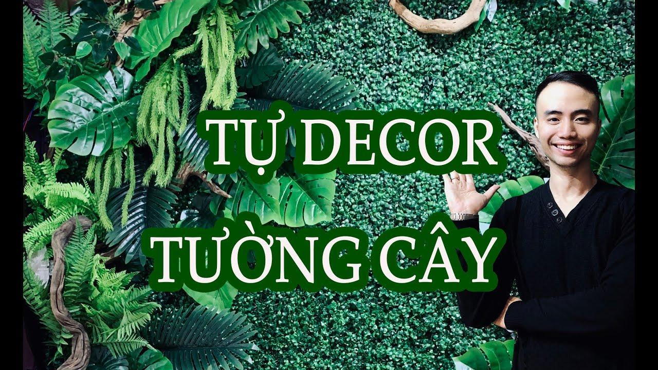 Tự Decor bức tường cây nhựa trang trí từ A đến Z #ilupetchannel