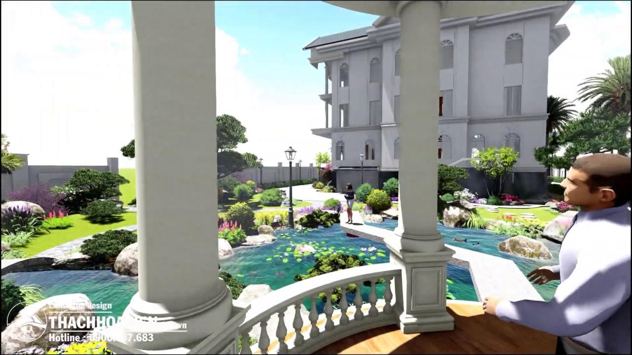 THV landscape - Phối cảnh thiết kế sân vườn Villa Long An