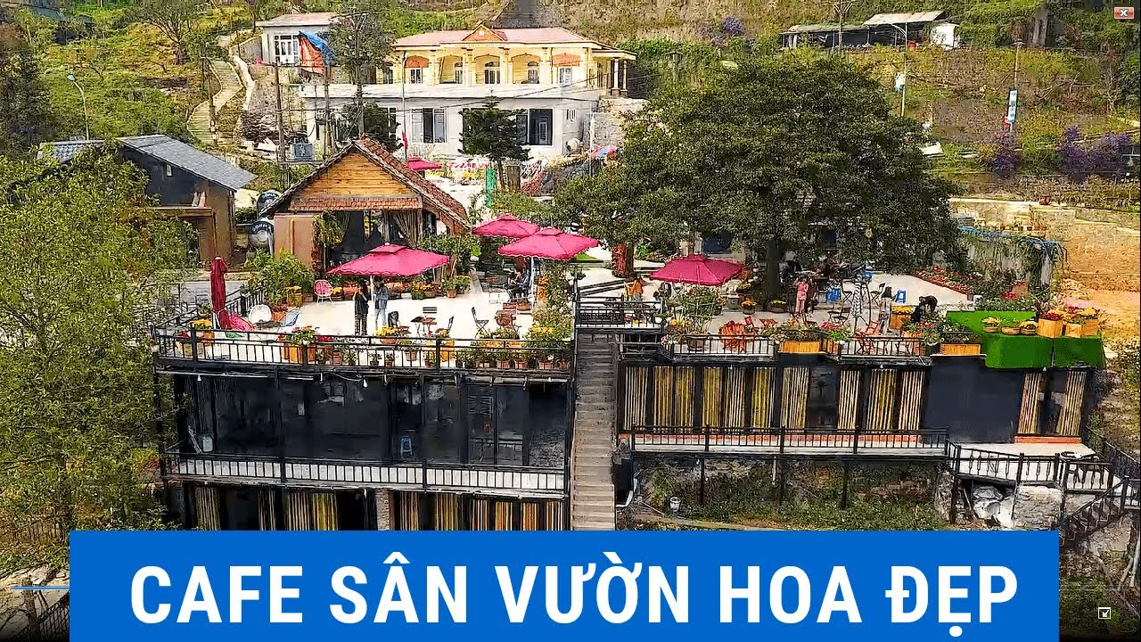Thiết Kế Quán Cafe Sân Vườn Hoa Đẹp   Thu Hút Khách Hàng