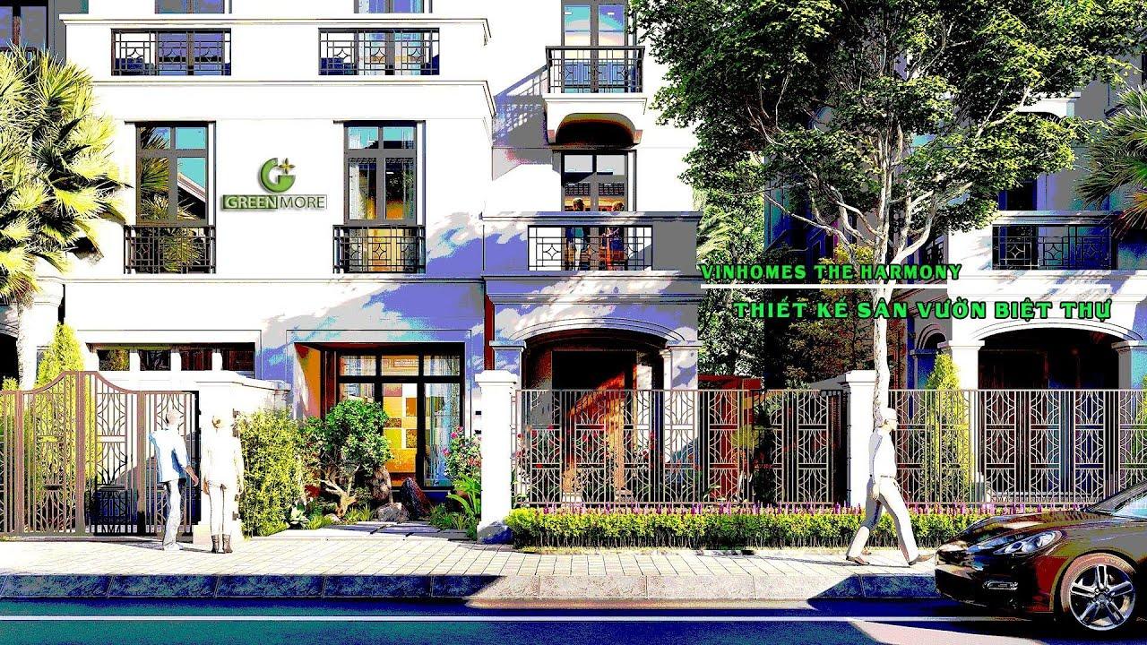 Thiết kế sân vườn biệt thự Vinhomes the Harmony Long Biên | Anh Bình | Greenmore Việt Nam
