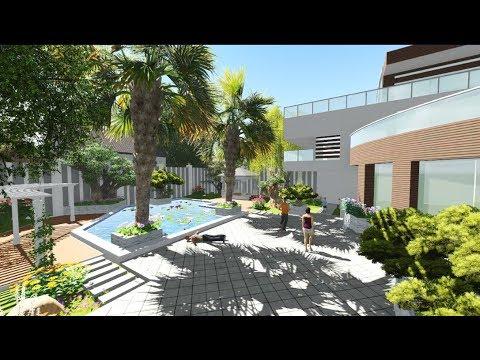 Thiết kế sân vườn biệt thự hồ bơi Anh Vũ