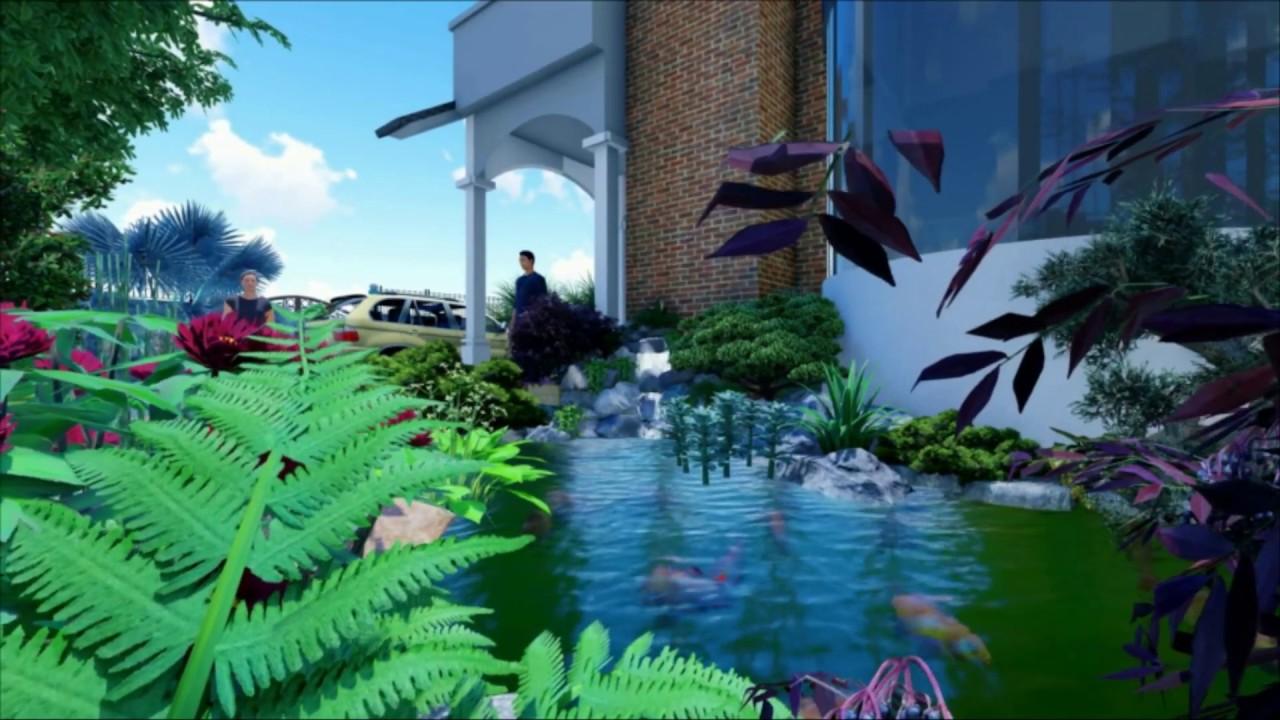 Thiết kế sân vườn nhà chị Di - Vũng tàu