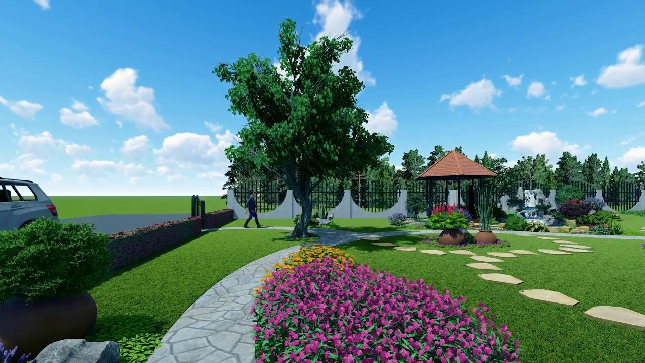 Thiết kế  sân vườn nhà thờ - Gia Lai