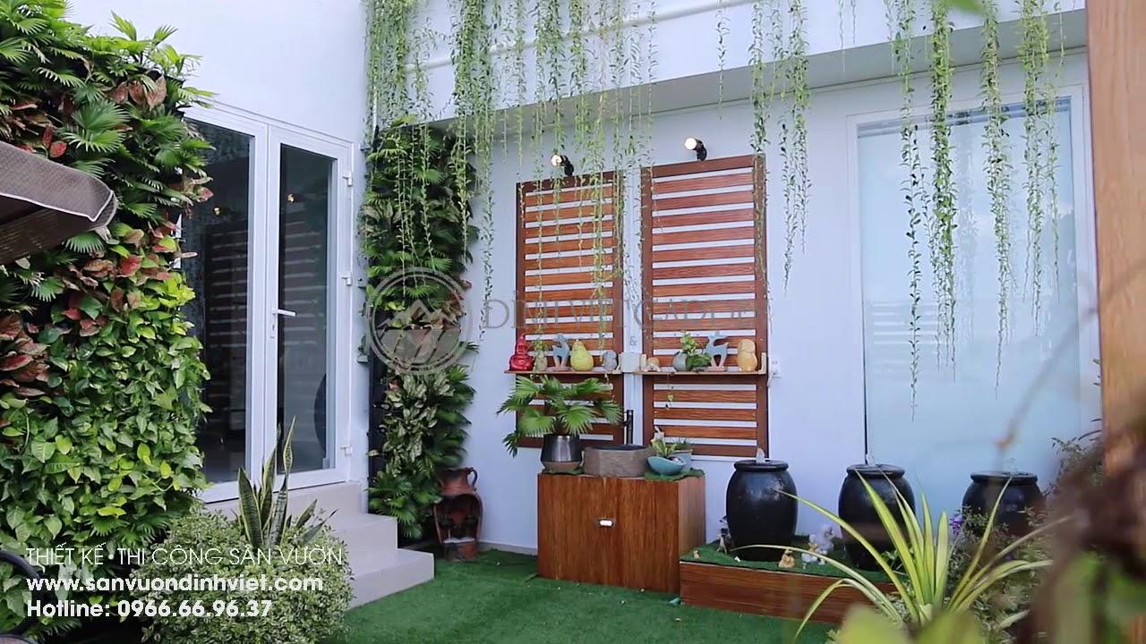 Thiết kế sân vườn thi công cảnh quan trên sân thượng nhà biệt thự Chị Thuỷ, Q6