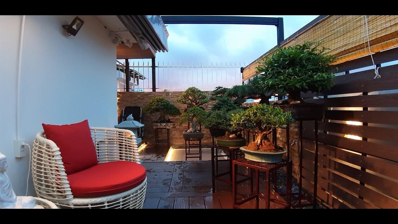 Thiết kế thi công vườn trên sân thượng Anh Vinh - Chung cư Sky Garden 3