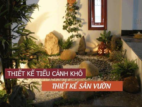 Thiết kế tiểu cảnh khô trong nhà + Thiết kế sân vườn Biệt Thự tại Củ Chi   GIABAOGROUP